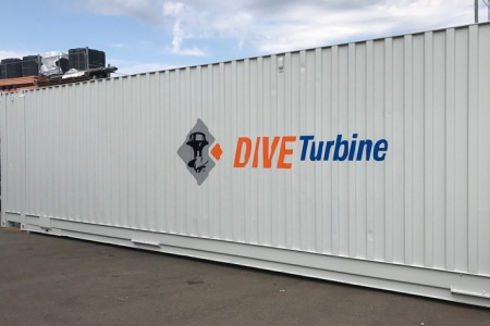 Fontfront-Rossdorf-Container-Folierung-Dive-Turbine