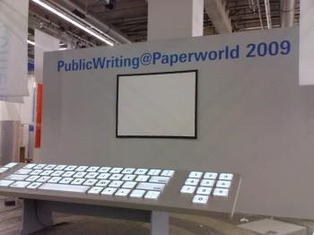 Messestandbeschriftung Paperworld