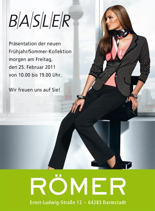 Basler-Anzeige Modehaus Römer