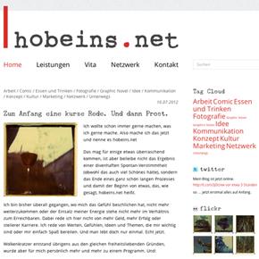 Webdesign für hobeins.net