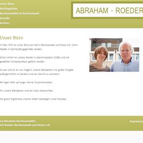 Webdesign für Kanzlei Abraham Roeder