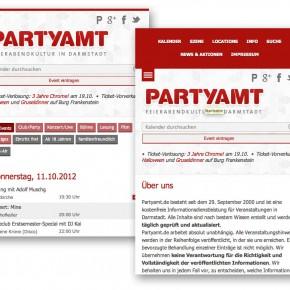 Redesign der Partyamt Webseite