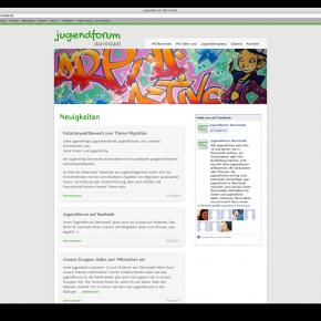 Webdesign für das Jugendforum Darmstadt