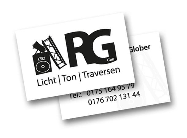 Banner Und Visitenkarten Für Rg Veranstaltungstechnik Gbr