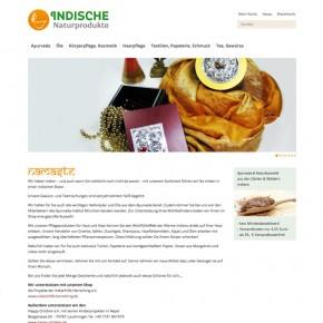 Indische Naturprodukte Redesign