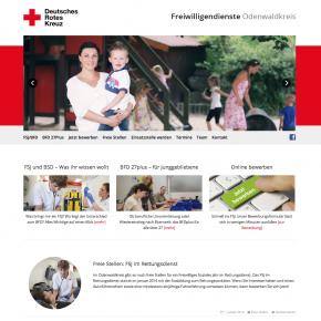 Webdesign Deutsches Rotes Kreuz