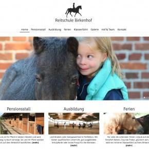 Webdesign Reitschule Birkenhof