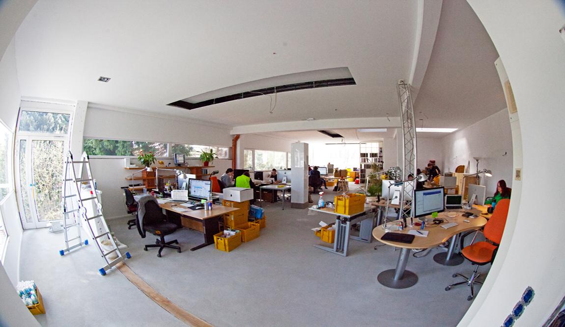 Das neue Büro