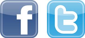 Logo Twitter und Facebook