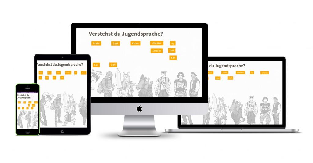 Showcase-mockup Jugendsprache
