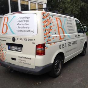 Fahrzeugbeschriftung: Firma BK