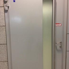 Sichtschutz auf Glaselementen in Brandschutztüren