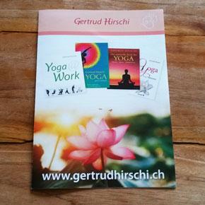 Flyergestaltung und Webdesign für Gertrud Hirschi