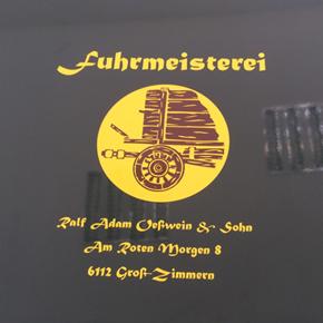 Unimog-Türen mit historischem Logo versehen