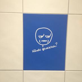 WC- / Toiletten-Beschriftung, optische Optimierung