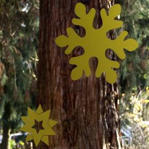 Fenster-Schmuck: weihnachtliche Sterne