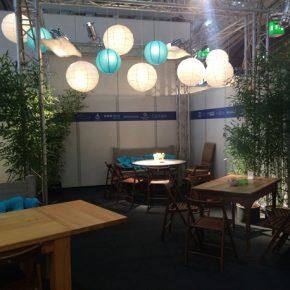 Gesamtkonzept, Dekorationen und Beschriftung für das Café der Verlage auf der Buchmesse 2016