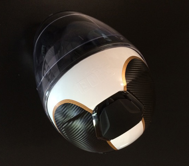 FontFront Helmfolierung Carbon Fiber Folie Brushed Gold