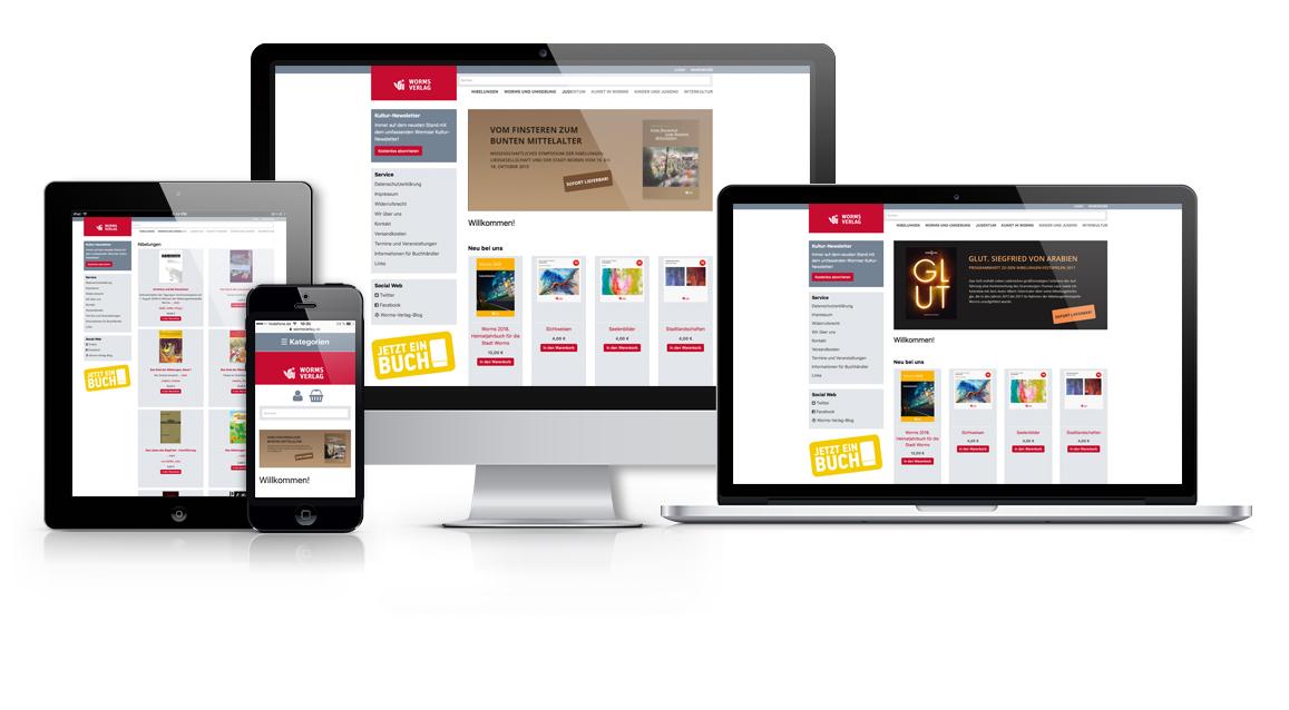 Darstellung der verschiedenen Ausgabegeräten mit Internetseite